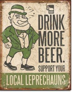 Drink More Beer Large Metal Sign 400mm x 300mm (de)